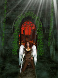 Arch Angel Inside Sanctuary Stock Image