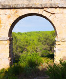 Arch of antique roman aqueduct. Tarragona,  Spain Stock Photography