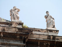 Arch antique statues in Rome Royalty Free Stock Images