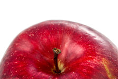 Arch of an apple. Studio closeup photo of nice delicious ripe juicy red apple detail as arch of an apple isolated on white Stock Photos
