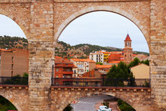 Arch of aqueduct in Teruel. Spain Royalty Free Stock Image