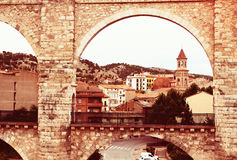 Arch of aqueduct in Teruel Stock Photography