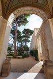 Arch of arcade Villa Giulia, Rome Stock Photo