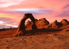 Arch in Arches National Park Stock Photography