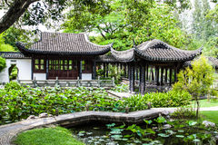 Arch. Itecture Chinese pavilion in the garden Royalty Free Stock Photography