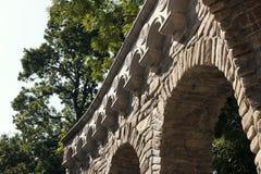 Arch arhitekrurny element, vegetation. Arch arhitekrurny element dense vegetation, summer Stock Images