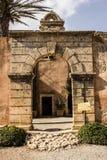 Arch in arkadi monastery. Rethymnon Crete island Stock Photo