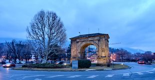 Arch of August in Aosta Italy.  Stock Image