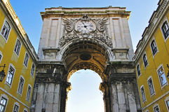Arch of augusta. Lisbon, Portugal Stock Images
