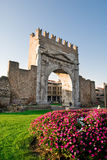 Arch of Augustus. In Rimini, Italy Royalty Free Stock Photos