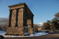 Arch of Augustus (Aosta) Royalty Free Stock Photography