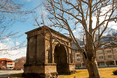 Arch of Augustus (Arco di Augusto) . Triumphal arch of Augustus in Aosta . Itally Stock Photos