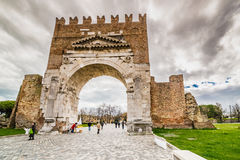 Arch of Augustus. The most ancient roman arch Stock Photography