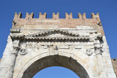 Arch of Augustus in Rimini. Italy. It was built in 27 BC. e Stock Images