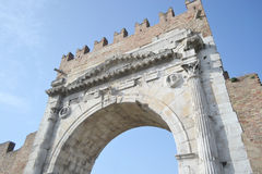 Arch of Augustus in Rimini Stock Photos