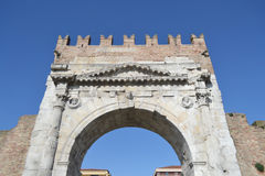 Arch of Augustus in Rimini Stock Photography