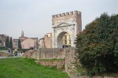 Arch of Augustus in Rimini. Italy Stock Photos