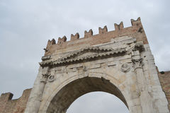 Arch of Augustus in Rimini. Italy Royalty Free Stock Images