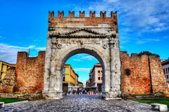 Arch of Augustus in Rimini. Italy Stock Image
