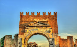 The Arch of Augustus at Rimini. Italy Royalty Free Stock Image