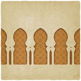 Arch on background with arabic pattern. Vector illustration - eps 10 royalty free illustration