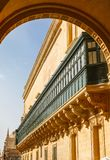 Arch and balconies, Valletta Malta 2013 Royalty Free Stock Photo