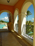 Arch Balcony in Secrets Sanctuary Resort DR Royalty Free Stock Images