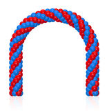 Arch of balloons. Twisted in a spiral form on white Royalty Free Stock Images