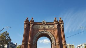 The Arch at Barcelona. Spain Stock Photos