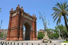 Arch, Barcelona, Spain Royalty Free Stock Photos