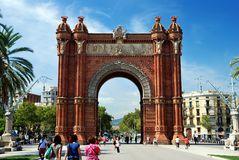 Arch, Barcelona, Spain. The arch of triumph in Barcelona, Spain Stock Images