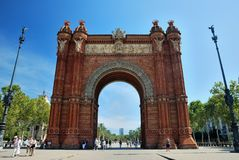 Arch, Barcelona, Spain. The arch of triumph in Barcelona, Spain Stock Photos