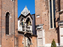 Arch in Basilica di Sant Anastasia in Verona. Travel to Italy - Arch with tomb  Arca di Guglielmo da Castelbarco in Basilica di Sant Anastasia in Verona city Royalty Free Stock Image