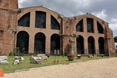 Arch of the Basilica Santa Maria degli Angeli e dei Martiri Stock Photos