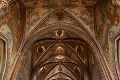 Arch of basilica. Arch of St Peter and St Paul basilica in Vysehrad fortress in Prague, Czech Republic Stock Photo