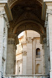 Arch Basilica of St. Peter Vatican. Italy Stock Photography