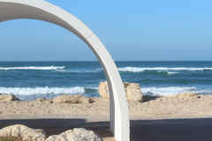 Arch on the beach Royalty Free Stock Photo