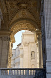 Arch of the Bells in St. Peters Square Royalty Free Stock Photo