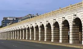 Arch of Bercy bridge in Paris Stock Photo