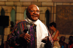 The Arch Bishop Emeritus Desmond Tutu. At his official book launch , St George's Cathedral 2011 Stock Images