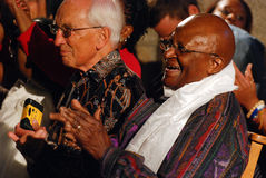 The Arch Bishop Emeritus Desmond Tutu. At his official book launch , St George's Cathedral 2011 Royalty Free Stock Photo