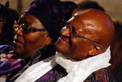 The Arch Bishop Emeritus Desmond Tutu. At his official book launch , St George's Cathedral 2011 Royalty Free Stock Images