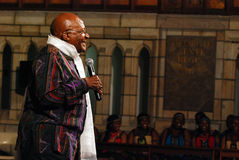 The Arch Bishop Emeritus Desmond Tutu. At his official book launch , St George's Cathedral 2011 Royalty Free Stock Image