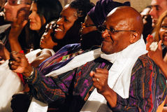 The Arch Bishop Emeritus Desmond Tutu. At his official book launch , St George's Cathedral 2011 Stock Photo