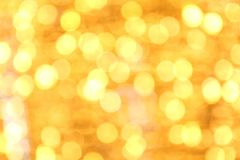Arch Bokeh gold yellow colorful of merry christmas, Happy new year bokeh lighting shine on night background, Bokeh glitter light. The Arch Bokeh gold yellow Royalty Free Stock Photo