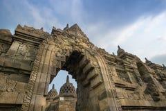 Arch at Borobudur. Ornate stone arch at Borobudur temple Stock Image