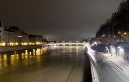 Arch bridge across a river, Pont Neuf, Seine River, Paris, Franc Stock Images