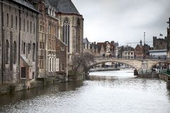 Arch bridge across a river, Saint Michael's Royalty Free Stock Image