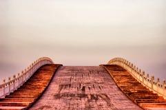 Arch Bridge At Sunset Time Stock Photos