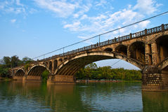 Arch bridge in chese counryside. Guangdong,china Stock Image